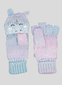 Multicoloured Unicorn Mitten Gloves (2-10 Years)