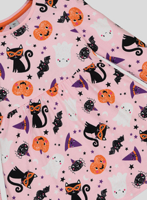 Halloween Pink Printed Jersey Dress (9 months - 6 years)