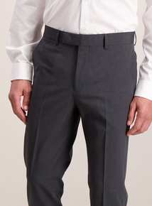 Online Exclusive Charcoal Slim Fit Textured Trousers