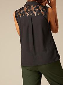 Premium Lace Sleeveless Shirt