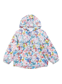 Multicoloured Butterfly Print Mac (3-14 years)