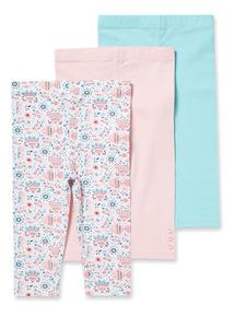 3 Pack Multicoloured Leggings
