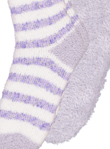 Lilac & Cream Cosy Socks 2 Pack