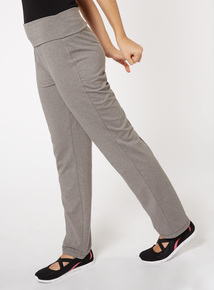 Light Grey Roll Top Joggers