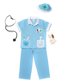 Kids Blue Vet Costume (2 - 10 years)