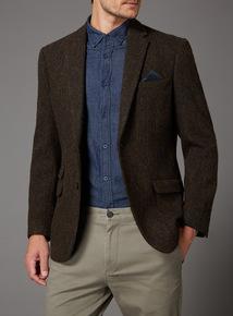 Brown Harris Tweed Jacket