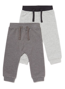 2 Pack Grey Joggers (0-24 months)