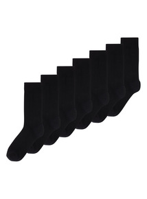 Black Stay Fresh Ankle Socks 7 Pack