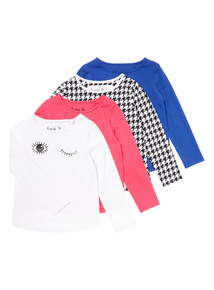 4 Pack Multicoloured Glitterama Colour Tops (3-14 years)