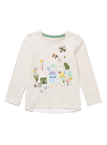 Cream Little Gardener Long-Sleeved Tee (9 months-6 years)