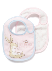 2 Pack Pink 'Guess How Much I Love You' Bibs