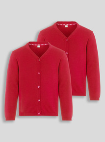 Girls Red Cardigan 2 Pack (2-12 years)