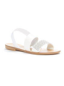 'Made In Italy' Pearl Look Strap Sandals