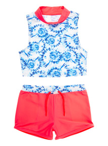 Multicoloured Tie Dye Tankini And Shorts (3 - 12 years)