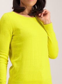 Lime Green Crew Neck Jumper