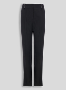 Girls Teen Black Longer Leg Trousers (10-16 years)