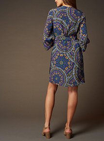 Premium Printed Wrap Dress
