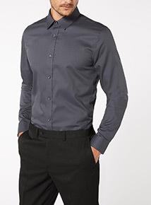 Charcoal Luxury Twill Shirt