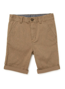Khaki Leaf Print Chino Shorts (3-14 years)