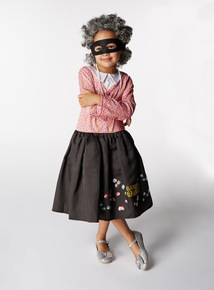 Pink Gangsta Granny Costume (2-12 years)
