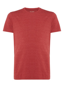 Red Marl Basic Crew T-shirt