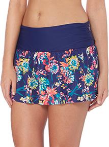 Multicoloured Tropics Roll Top Skirt