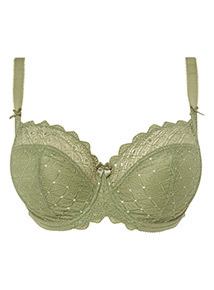 Khaki DD+ Lace Non-Padded Full Cup Bra