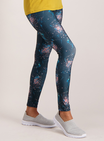 Multicoloured Print Active Leggings