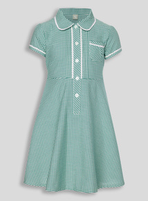 Green Generous Fit Gingham Dress (3 - 12 years)