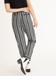 GFW Black & Silver Striped Trousers