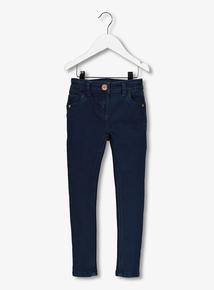 Dark Wash Skinny Denim Jeans with Stretch (3-14 years)