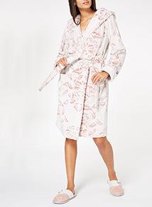 Damask Print Robe