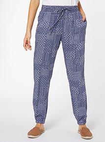 Patchwork Drapey Trouser