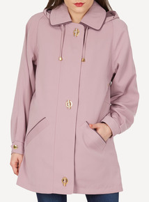 DAVID BARRY Lilac Panama Faux Silk Jacket