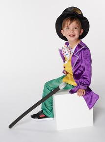 Multicoloured Willy Wonka Costume (3-10 years)