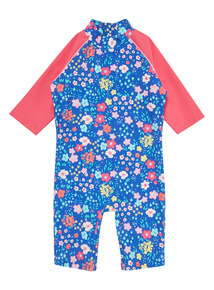Navy Floral Sunsafe Swimsuit (9 months-5 years)