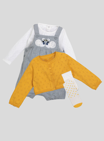 Grey and Mustard Swan Lake 4 Piece Set (0-24 months)