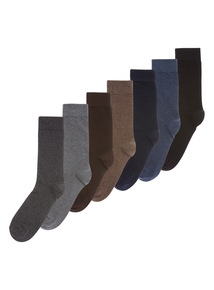 Multicoloured Marl Socks 7 Pack