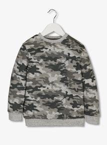 Khaki Camouflage Sweatshirt (3-14 years)