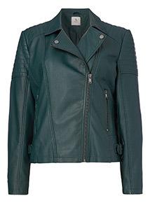 Dark Green Quilted Jacket