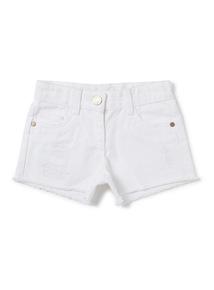 White Denim Shorts (3-14 years)