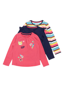 Three Pack Long Sleeve Tops (9 months-6 years)