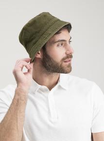 Khaki & Stone Reversible Bucket Hat