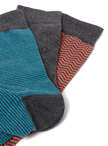 5 Pack Multicoloured Stay Fresh Socks