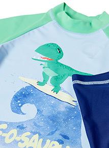 2 Piece Multicoloured Dinosaur Sunsafe (9 months - 5 years)