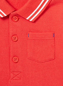 Red Polo Bodysuit (0-24 months)