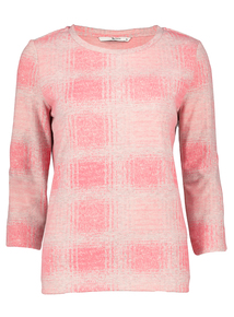 Pink Check Sweatshirt