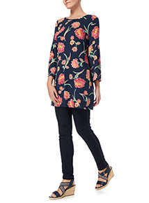Multicoloured Bell Sleeve Tunic