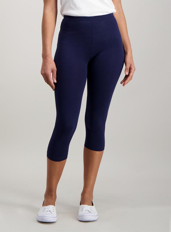 4fb83c9349a8c0 Womens Black & Navy Cropped Leggings 2 Pack | Tu clothing
