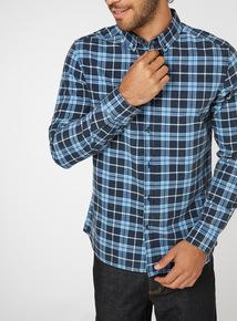 Blue Check Print Shirt